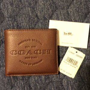 NWT- Men's Coach Wallet- never used